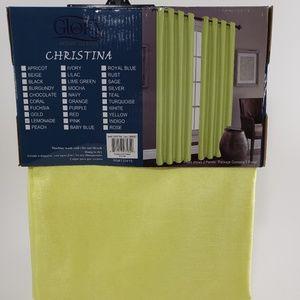 Glory Home Designs Accents - Christina Faux Silk Grommet-Top Panel_LemonadeSS